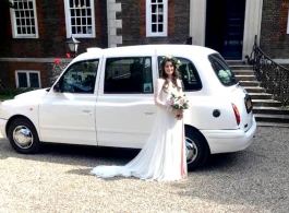 White London Cab for weddings in Rochester